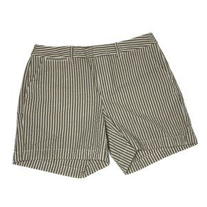 NWOT, White and Tan striped A New Day Chino Shorts